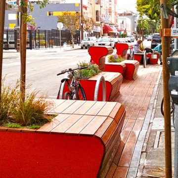 Gluren bij de buren: vijf voorbeelden hoe parklets het straatbeeld leuker maken