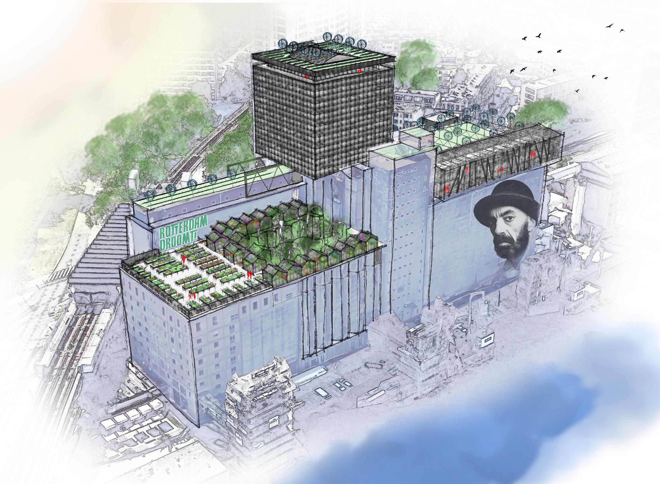 Overzichtsafbeelding van het plan voor de Maassilo