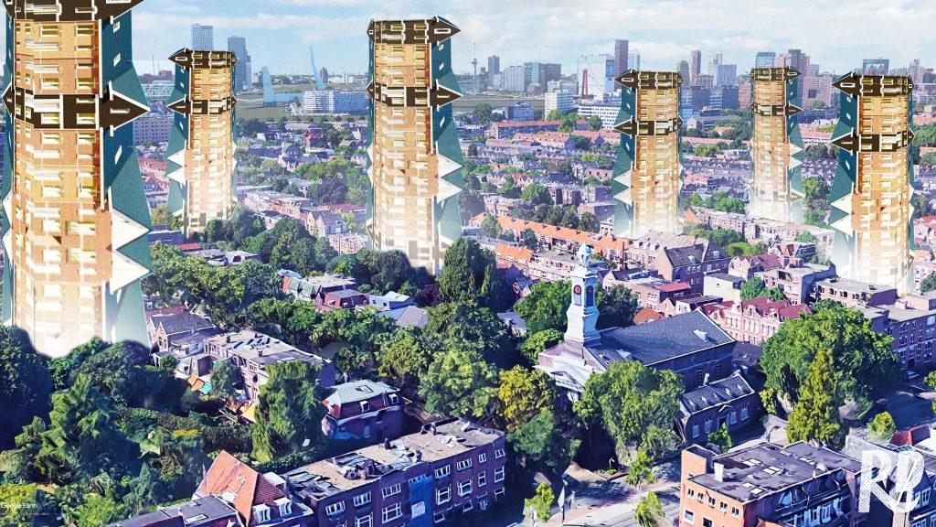 De verticale vinexwijk in Rotterdam