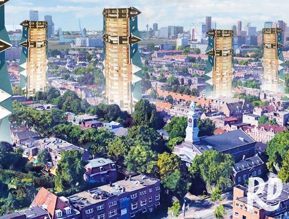 Een verticale vinexwijk middenin Rotterdam zorgt voor honderden extra woningen